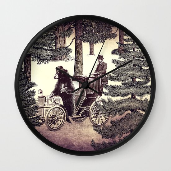 Two Gentlemen in the Forest Wall Clock