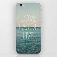 Love Laugh Live #2 iPhone & iPod Skin
