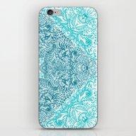 Teal Tangle Square iPhone & iPod Skin