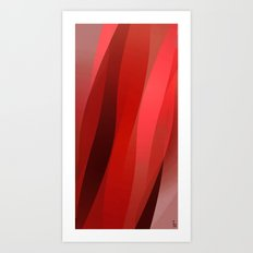 Red Twist Art Print