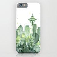 Seattle Watercolor Paint… iPhone 6 Slim Case