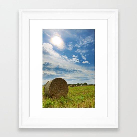 Strohballen Framed Art Print