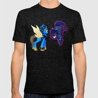 Mad T Ponies 'Absolem and Chesshur' Mens Fitted Tee Tri-Black SMALL