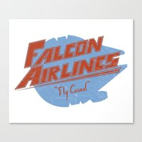 Falcon Airlines Canvas Print