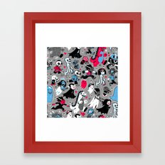 Alt Monster March (Gray) Framed Art Print