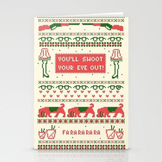 A Christmas Sweater Stationery Card