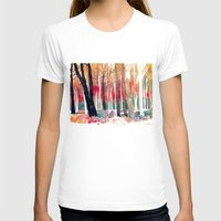 Woods Womens Fitted Tee White SMALL