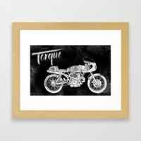 Vintage Torque Cafe Race… Framed Art Print