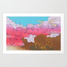 WHERE THE BUFFALO ROAM? Art Print