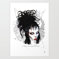 Lydia, Alice, Deetz, Glass Art Print
