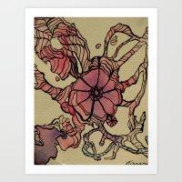Retro Abstraction Art Print
