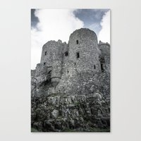 Faded Memories: Harlech Castle Canvas Print