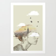 New York City Drifting Art Print