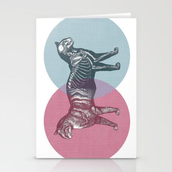In which the cat is dead and alive Stationery Card