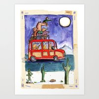 Dogs on Vacation: Art Print