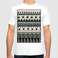 PASTEL NORDIC TRIBAL  Mens Fitted Tee White SMALL