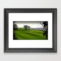 Green Pastures Framed Art Print