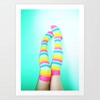 Rainbow Legs Art Print