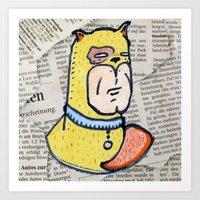 Super Doge Art Print