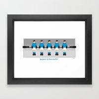 Manchester City table football (Fossball) Framed Art Print