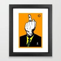 Mr Finger Framed Art Print