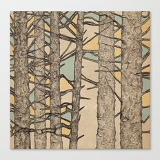 Stained Glass Trees Canvas Print