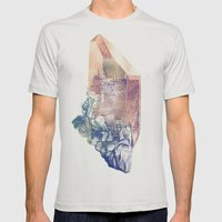 Byzantium Mens Fitted Tee Silver SMALL