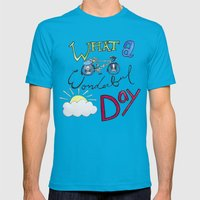 What A Wonderful Day Mens Fitted Tee Teal SMALL