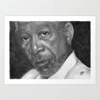 Morgan Freeman Traditional Portrait Print Art Print