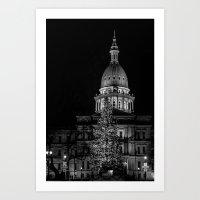 The Michigan Capital  Art Print