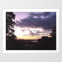 Sunset Over Ohio River Valley Art Print