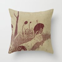 Helvete Forest Throw Pillow