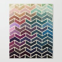 Chevron IKat Canvas Print