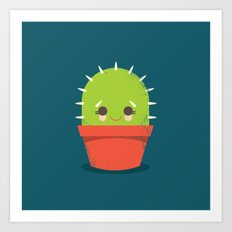Kawaii Cactus Dude Art Print