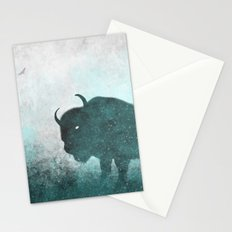 Teal Ghost: Bison Silhouette Stationery Cards