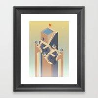 Castles in the sky Framed Art Print