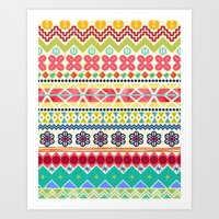 Fun Fair Isle Art Print
