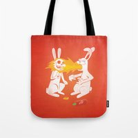 Fire Bunny Tote Bag
