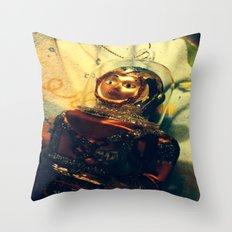 Vintage Christmas Astronaut Throw Pillow