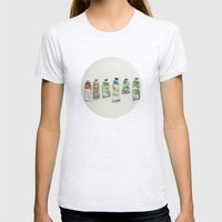 Oil Paints Womens Fitted Tee Ash Grey SMALL
