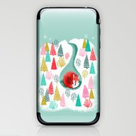 Winter's Fox By Andrea L… iPhone & iPod Skin