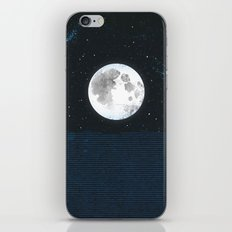 Blue Moonscape iPhone & iPod Skin