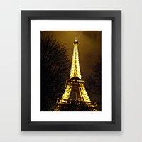 Paris in December Framed Art Print