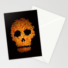 Candy Corn Skull Stationery Cards