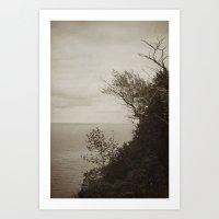 On Edge - Black And Whit… Art Print