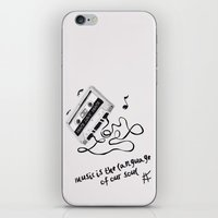 music is the language of our soul. iPhone & iPod Skin