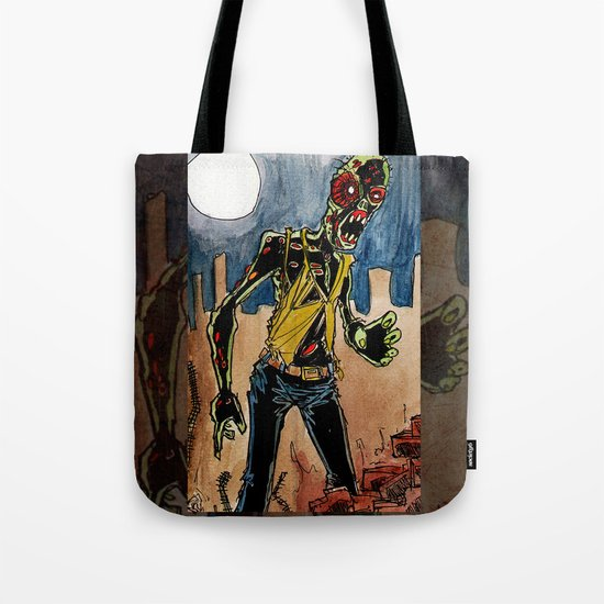 zombie in the ruins Tote Bag