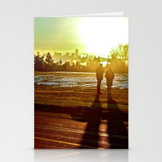 A Mix Of Sun And Snow Stationery Card