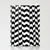 Chevron Pieces Stationery Cards