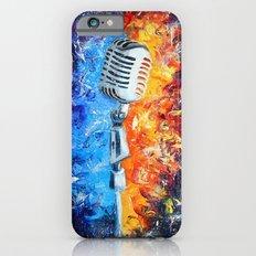 Golden microphone iPhone 6 Slim Case